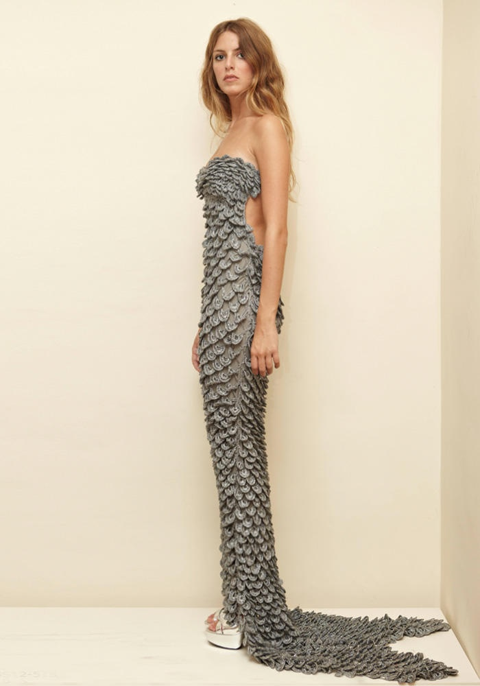 2 ters 1 duz mermaid gown by Ipek Arnas  from SS12 Collection www.2ters1duz.com