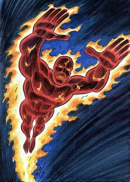 Human Torch - Bruce Timm