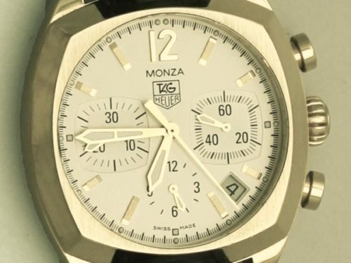 Tag Heuer Monza Chronograph, 18 ct Yellow Gold Gents Watch - Contemporary 2009 Click to find out more -  http://menswomenswatches.com/tag-heuer-monza-chronograph-18-ct-yellow-gold-gents-watch-contemporary-2009/