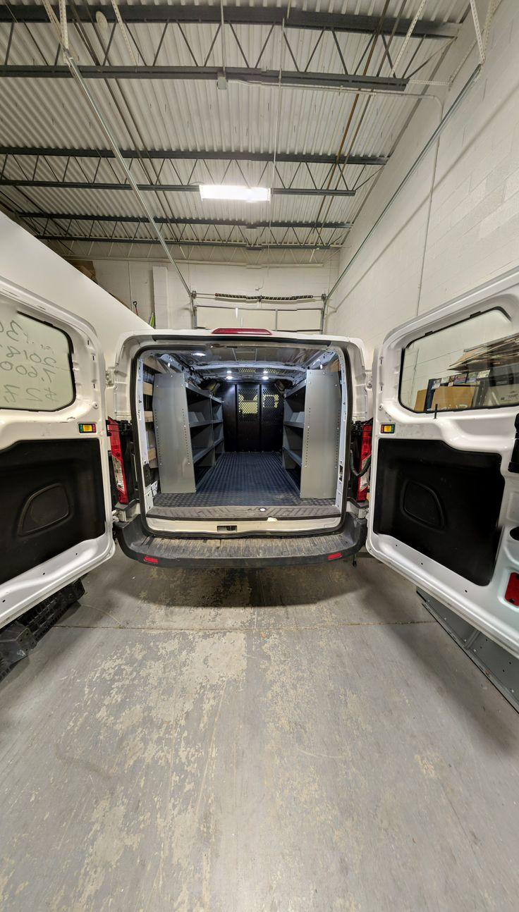 Shelves for 2020 Ford Transit made by True Racks Ladder