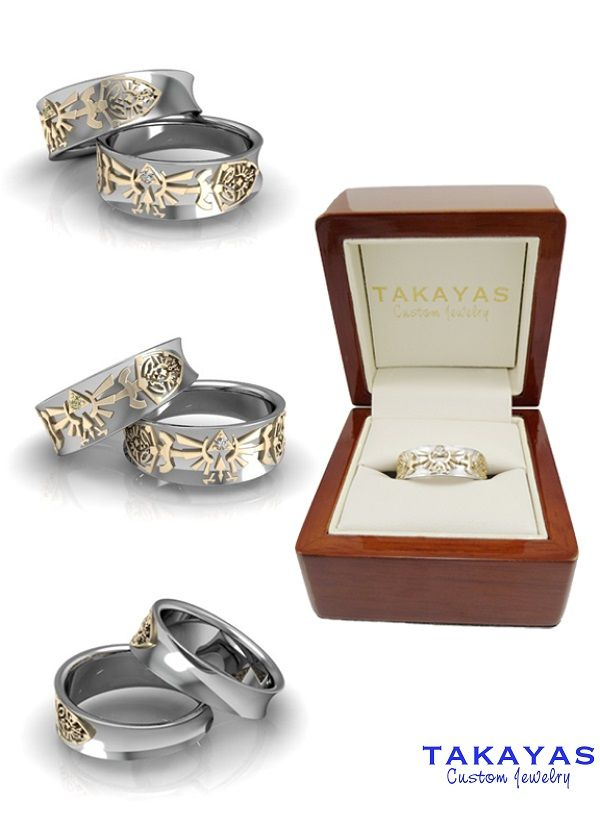 the legend of zelda wedding ring collection um the girl gamer in me