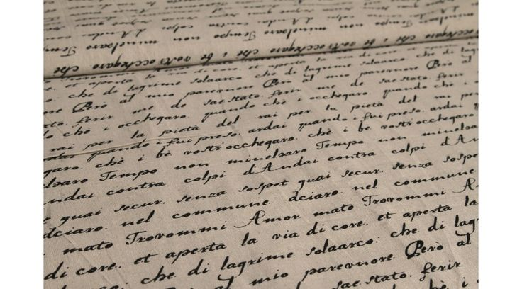 Mintás lenvászon - Handwriting - Lenvásznak - Gombolda Webáruház