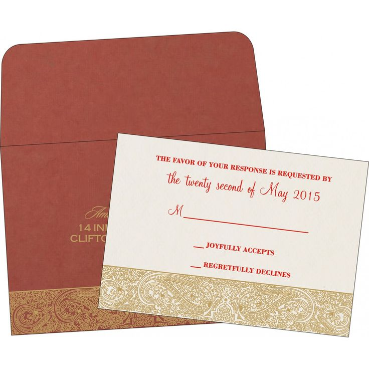 how to write muslim wedding invitation card%0A Red handmade cotton embossed wedding card   w    l