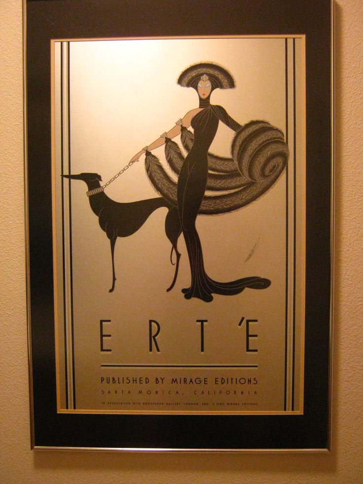 My sister gave me this Erte' print in 1981. Symphony In Black.