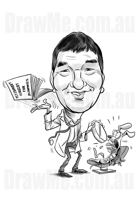 Part of the 'For Dummies' series of caricatures available at DrawMe.com.au. Awesome caricatures all hand drawn by extremely talented artist. Any theme, any body, any background...your choice! Order today or visit and view the incredible artwork.