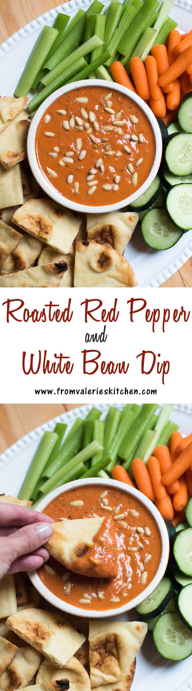 Delicious served with warm toasted naan. A flavor-packed, wholesome snack alternative! ~ #MeatlessMondayNight #sp http://www.fromvalerieskitchen.com