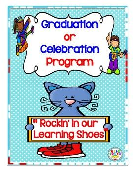 """NEW!  Are you looking for a easy and fun upbeat end-of-the-year program?  Well, here it is!  Students will take their guests on a tour of their favorite places at school when performing this program """"Rockin' in our Learning Shoes"""".  This program was written so you can modify it to fit your needs."""