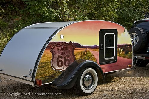 Route 66-themed teardrop trailer | Flickr - Photo Sharing!