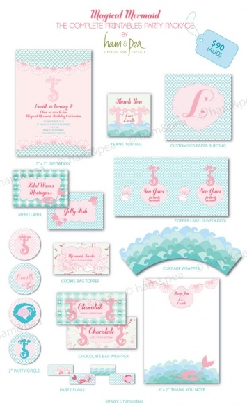 Magical Mermaid Party Printables The Complete Collection