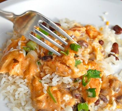 """Slowcooker!  Another pinner said: What we call """"Mexican Chicken"""" in our house - we once ate this 6 weeks in a row!"""
