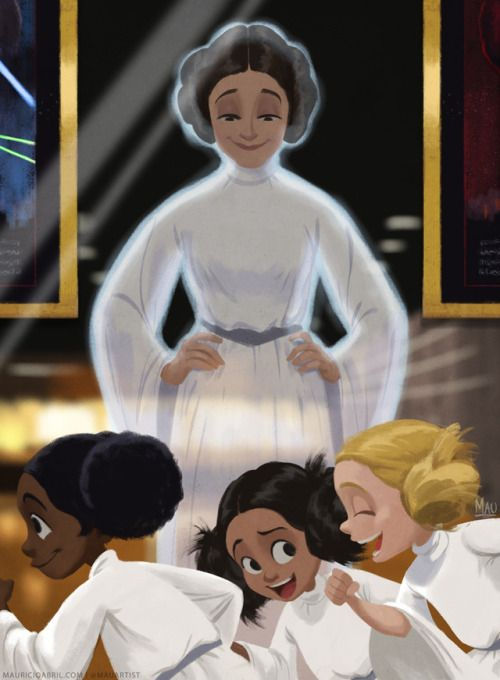 mauricioabril Happy birthday, Carrie Fisher! Rest in peace knowing you've inspired and will continue to inspire generation after generation of little Leias!