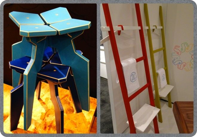 """ICFF 2014 Recap: The Good, The Bad And The Highly Creative """"The Good: Next TWO.SIX out of Portugual, redefines a crisp and user friendly storage unit as a ladder with a removable shelf. The painted matte lacquer has an extremely touchable hand, it is almost soft."""" #twosixdesign #ICFF2014 #Ypsy #DecorGirl @Lisa Minardi.Smith(DecorGirl)"""