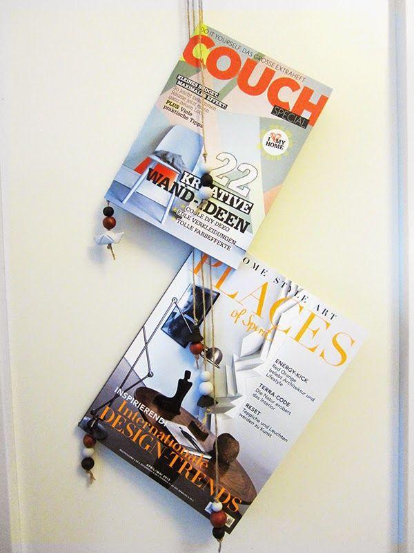 DIY | Hängendes Designer-Magazinregal zum kleinen Preis | Mimi unleashed