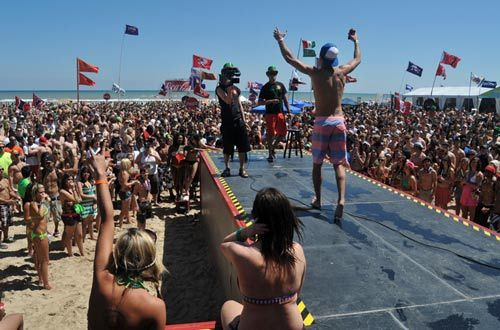 Coca-cola Beach, South Padre Island, Texas for Spring Break. Yeah, it was crazy.    2012.