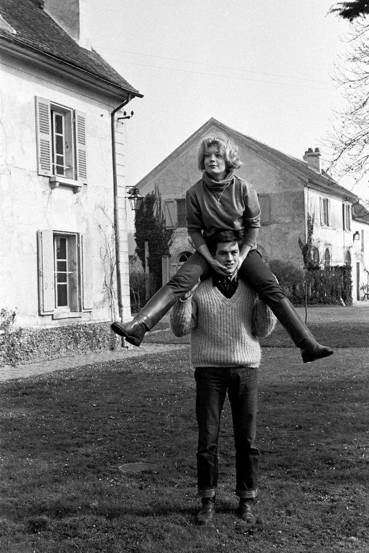 Alain Delon With Romy, 1959.