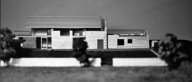 Plastik Architects- Model of a house in the UK