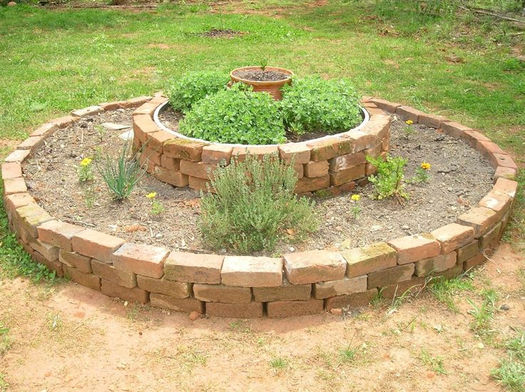 A Raised Herb Bed From Reclaimed Brick Raised herb