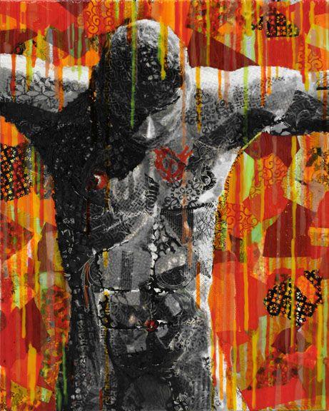"""Latency, Rick Rogers, Mixed Media Acrylic on Canvas, 24"""" x 30"""", 2013"""