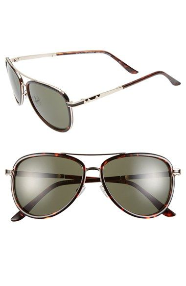 BCBGMAXAZRIA 54mm Aviator Sunglasses available at #Nordstrom...half the price on bcbg outlet site