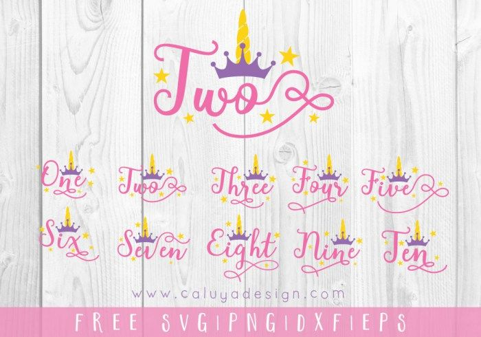 Unicorn Numbers FREE SVG, PNG, DXF & EPS by   Cricut   Svg