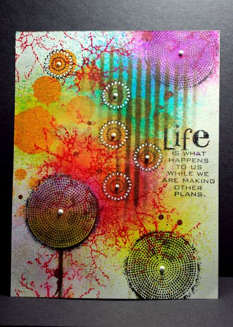 Dylusions Sprays and Designs by Ryn Stamps by Eileen