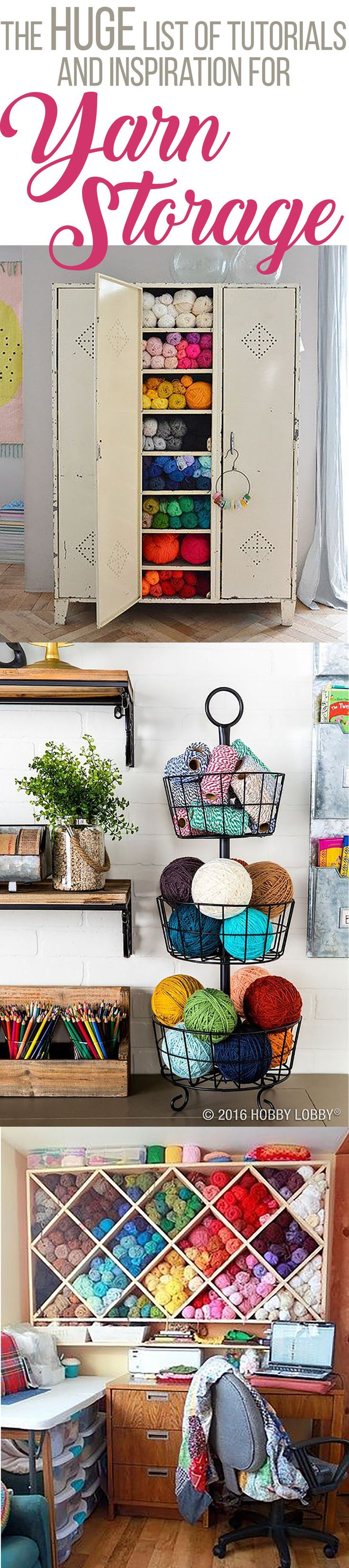 The Huge List of Yarn Storage Inspiration and Tutorials (Great for On a  Budget!