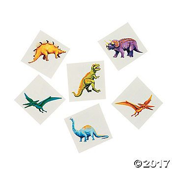 UpROARiously fun to wear! Include these prehistoric dinosaur tattoos as party favors in the goody bags at your next birthday party or sleepover. These Cool ...