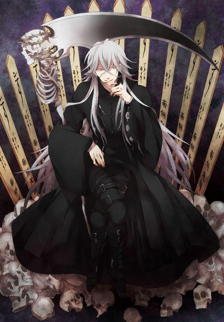 Kuroshitsuji, Undertaker, Shinigami http://www.zerochan.net/943405 #Black Butler #Kuroshitsuji Kuroshitsuji Manga Reading http://www.mangaeden.com/en-manga/kuroshitsuji/     Watch in English Kuroshitsuji S1 (Black Butler)   Season 1& 2 http://dubbedanime.net/anime/black-butler-english-dubbed   OVA's  http://www.funniermoments.com/tag.php?t=black-butler