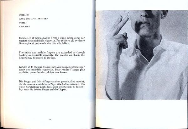 Munari Speak Italian. Have you a cigarette?
