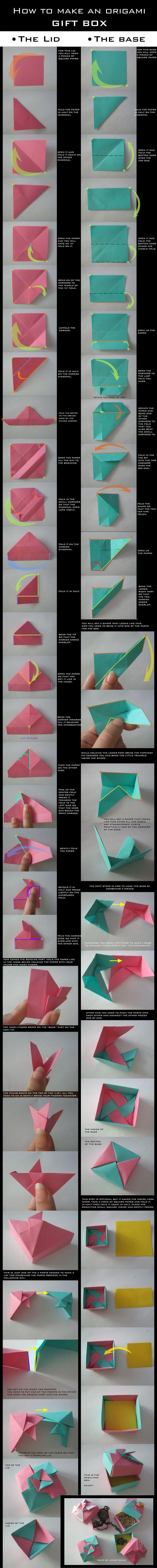 TUTORIAL: Origami Gift Box by DarkUmah.deviantart.com on @deviantART