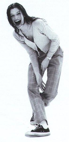 Milla Jovovich. Look at that beautiful smile!