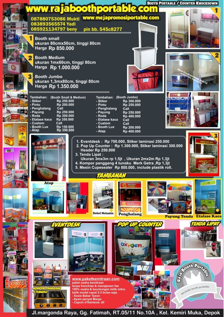 Pricelist update www.rajaboothportable.com