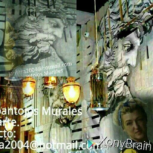 El decorador de este Restaurante me encargo este motivo, pintado Insitu, sobre una pared, de palés, en basto fondeados en blanco, complicado el soporte, hice mi interpretación. #decoración#murales#trampantojos#pintura realizada a #mano