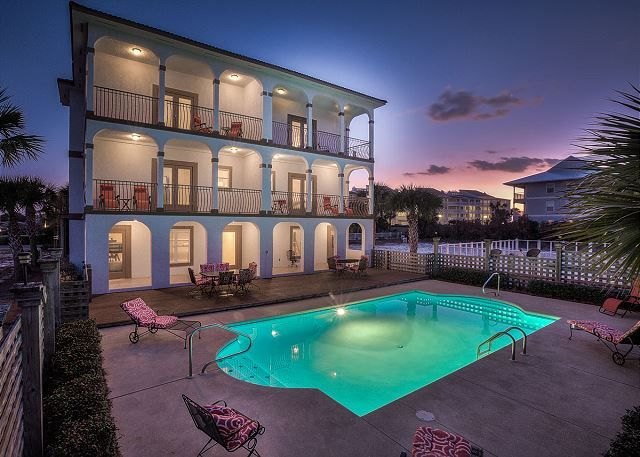 Spectacular Gulf views and endless days of fun in the sun await you at this four story vacation haven tucked away in beautiful Seagrove Beach, FL. Featuring four bedrooms, four bathrooms and pleasing accommodations for up to thirteen guests this beach getaway has everything you need for the perfect vacation. Should you need more space, you may also be interested in renting the adjoining West unit.