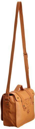 (Spain) - Compre Nuevo: EUR 79,00  - Zapatos: Desigual Bols__Lille Maletin Flores 26X51096091U - Bolso de hombro para mujer, color marrón, talla 26x23x10 cm