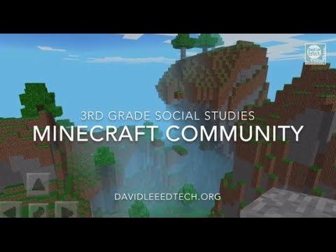 Driving Question for learners - How do we, as a group, build the perfect community? Minecraft Community Project (3rd Grade Social Studies)