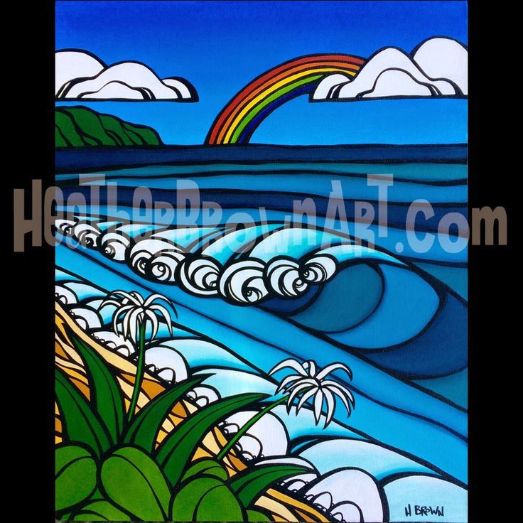 Surf Art Original by Heather Brown for the Wyland Gallery Annual Surf Art Show December 13, 2014 HeatherBrownArt.com #surfart #heatherbrown
