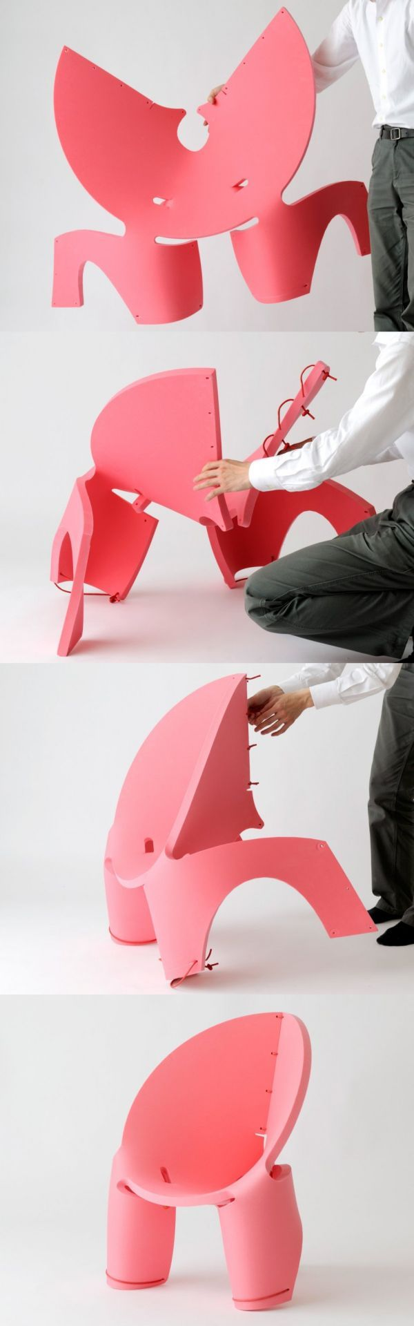 Portable seating sewn-up with the Eva Chair
