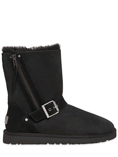 "UGG AUSTRALIA - STIVALI ""BLAISE ZIPPED"" IN SHEARLING - LUISAVIAROMA - LUXURY SHOPPING WORLDWIDE SHIPPING - FLORENCE"