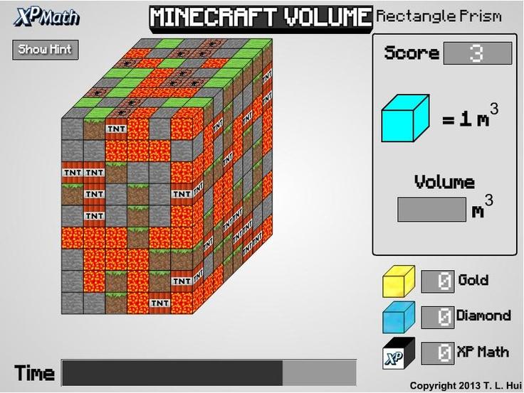 minecraft volume rectangular prism xp math games pinterest minecraft. Black Bedroom Furniture Sets. Home Design Ideas