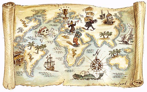 Пиратская вечеринка. Карта сокровищ.