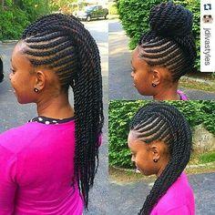 Idées Coupe cheveux Pour Femme 2017 / 2018 40 coiffures Chic Twist pour cheveux naturels