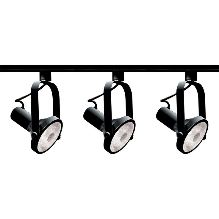 Features:  -Track light kit.  -Transitional style.  -UL listed for dry locations.  -Black finish.  Product Type: -Full track lighting kit.  Style: -Contemporary.  Finish: -Black.  Bulb Type: -Incandes
