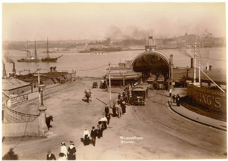 Milsons Point Ferry 1900 notice no rock like previous picture