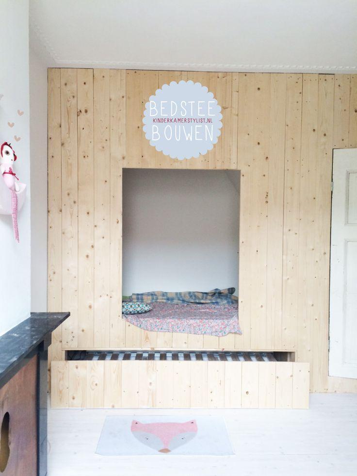 #DIY #Zelfmaken een #bedstee   Kinderkamerstylist.nl