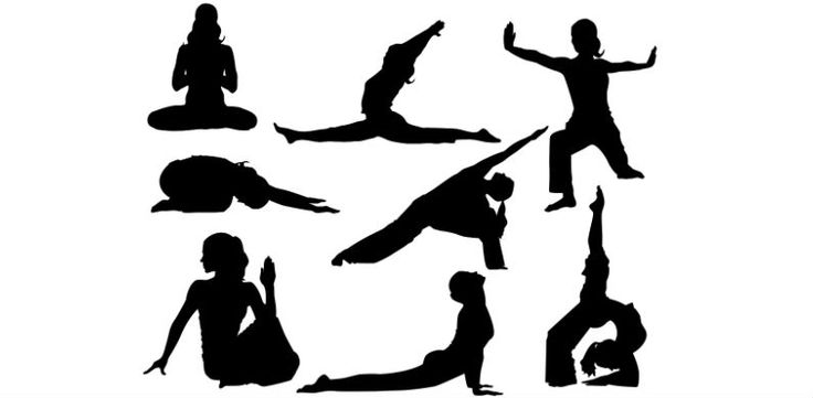 17 Best images about Yoga Silhouettes