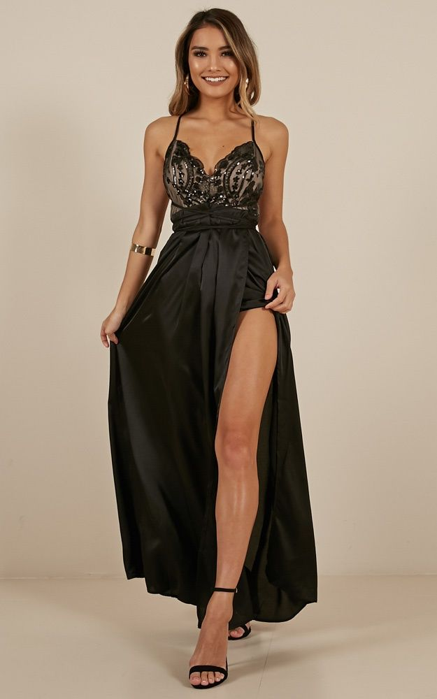 f9a6311c55c Fix You Maxi Dress In Black Produced in 2019