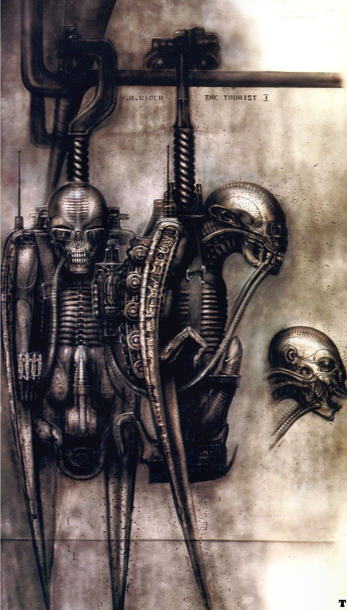 Hans Rüdi Giger: The Tourist I Biomechanic bird-robot