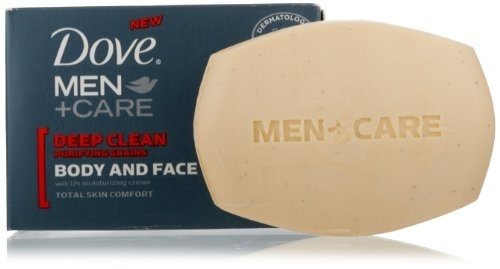 Dove Men + Care Body and Face Bar, Deep Clean, 4 Bar (Pack of 2) by Dove, http://www.amazon.com/dp/B005XIM2M8/ref=cm_sw_r_pi_dp_waiPrb1VY7F49