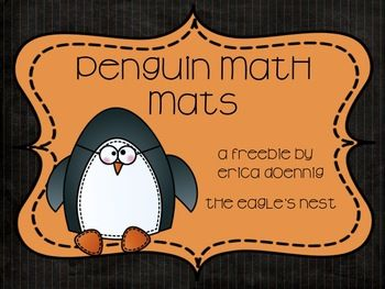 penguin math fun freebie!
